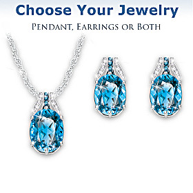 Twilight Luster Pendant Necklace And Earrings Set