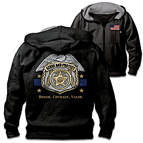 Serve And Protect Men's Hoodie