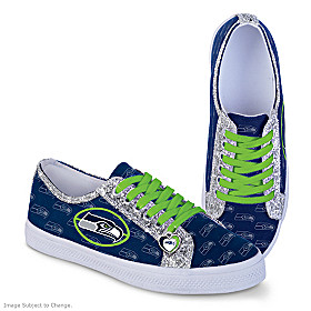 Seattle Seahawks Ever-Sparkle Women's Shoes