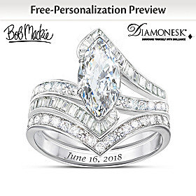 Forever Beautiful Bride Personalized Bridal Ring Set