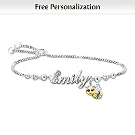 Always Bee Yourself Personalized Bracelet