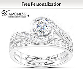 Love Grows Personalized Bridal Ring Set