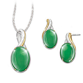Empress Pendant Necklace And Earrings Set