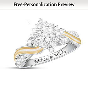 Love, Always And Forever Personalized Diamond Ring