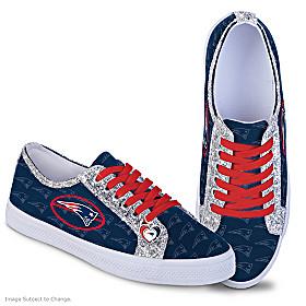 New England Patriots Ever-Sparkle Women's Shoes