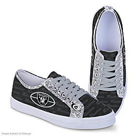 Las Vegas Raiders Ever-Sparkle Women's Shoes