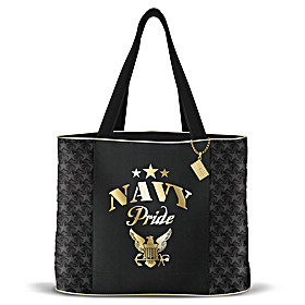 Military Pride Navy Tote Bag