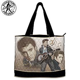 Elvis Burning Love Tote Bag