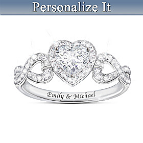 Hearts And Romance Personalized Ring