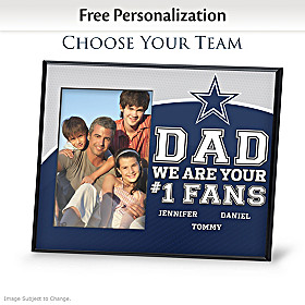 Dad's Fans Personalized Picture Frame