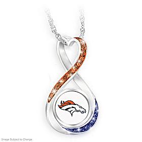Denver Broncos Forever Pendant Necklace
