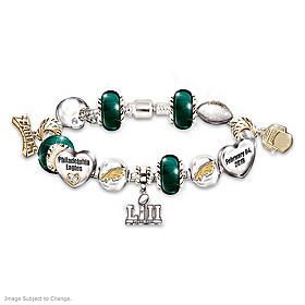 Go Eagles! #1 Fan Super Bowl Charm Bracelet