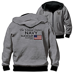 Reversible Military U.S. Navy Men's Hoodie