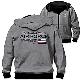 Reversible Military U.S. Air Force Men's Hoodie