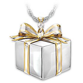 Daughter Of My Heart Diamond Pendant Necklace