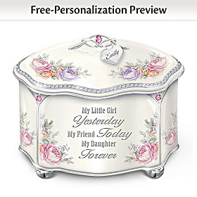 My Daughter Forever Personalized Music Box