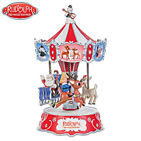 Rudolph The Red-Nosed Reindeer Musical Carousel