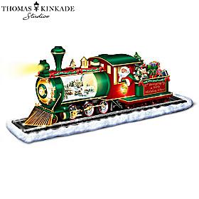 Thomas Kinkade Bringing Holiday Cheer Snowglobe Sculpture