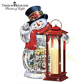 Thomas Kinkade Holiday Greetings Sculpture