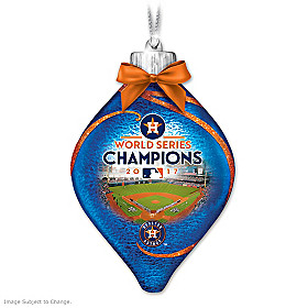 Astros 2017 World Series Champions Glass Ornament