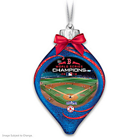 Red Sox 2018 World Series Champions Glass Ornament