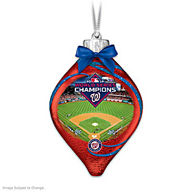 Nationals 2019 World Series Champions Glass Ornament