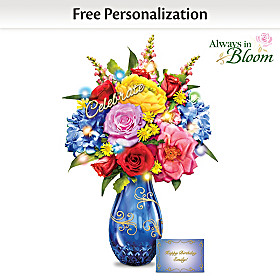 Celebration Table Centerpiece With Personalized Card