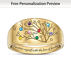 Love Of Family Personalized Ring