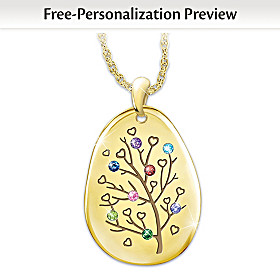 Love Of Family Personalized Pendant Necklace