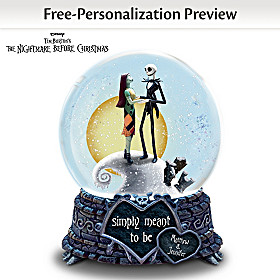 Simply Meant To Be Personalized Snowglobe