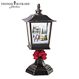 Thomas Kinkade Snow Wonderful Illuminated Snowglobe Lantern