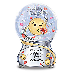 Daughter, You Make My Heart Smile Glitter Globe