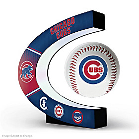 Chicago Cubs Levitating Baseball Sculpture