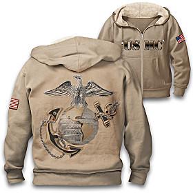 Military Pride U.S. Marine Corps Men's Hoodie