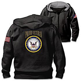 Veterans Pride Navy Men's Hoodie