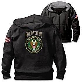 Veterans Pride Army Men's Hoodie