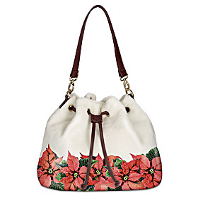 Poinsettia Splendor Handbag