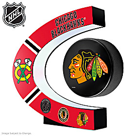Chicago Blackhawks® Levitating Puck Sculpture
