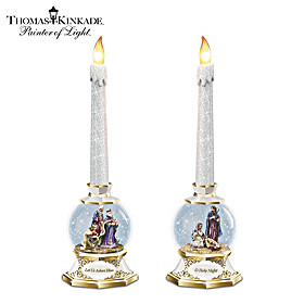 Thomas Kinkade Lights Of The Season Candle Set
