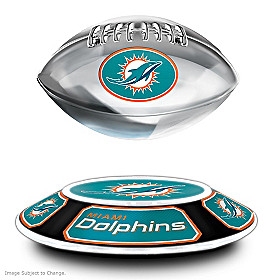 Miami Dolphins Levitating Football Sculpture
