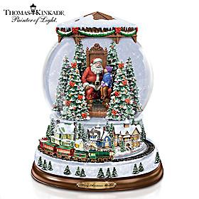 Thomas Kinkade A Visit With Santa Snowglobe