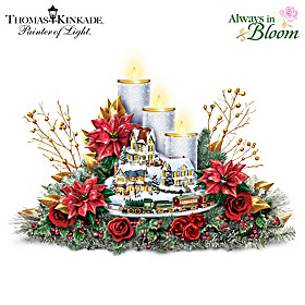 Thomas Kinkade Lights Of The Holidays Table Centerpiece