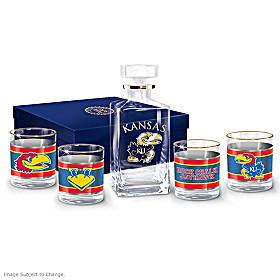 Kansas Jayhawks Legacy Glassware Set