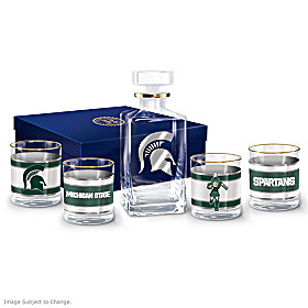 Michigan State Spartans Legacy Glassware Set