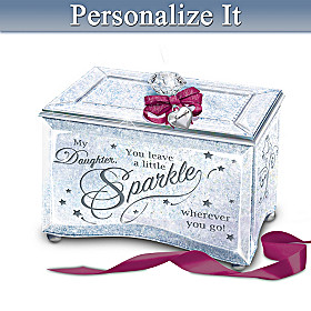 My Daughter, Sparkle And Shine Personalized Music Box