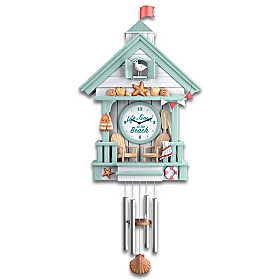 Life Is Good At The Beach Cuckoo Clock