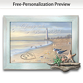 To The Beach And Back Personalized Wall Decor