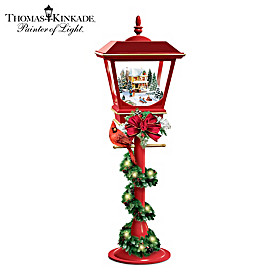 Thomas Kinkade Making Spirits Bright Table Centerpiece