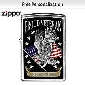 Proud Veteran Personalized Zippo® Lighter