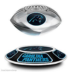 Carolina Panthers Levitating Football Sculpture
